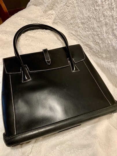 Dooney & Bourke Rubber Leather Tote in Black Image 1