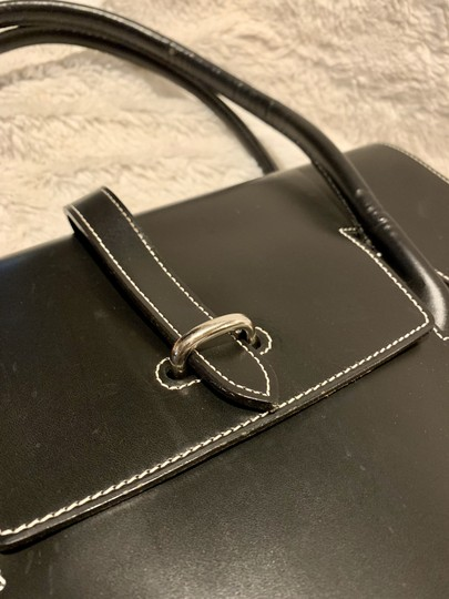 Dooney & Bourke Rubber Leather Tote in Black Image 2