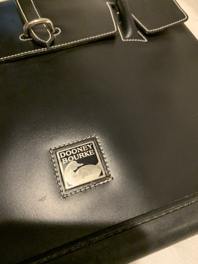 Dooney & Bourke Rubber Leather Tote in Black Image 3