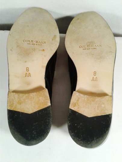 Cole Haan Leather Narrow Diamond Weave BLACK Flats Image 11