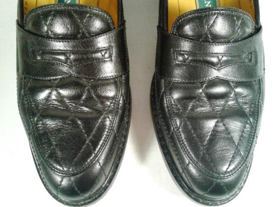 Cole Haan Leather Narrow Diamond Weave BLACK Flats Image 4
