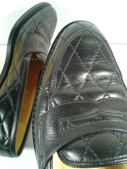 Cole Haan Leather Narrow Diamond Weave BLACK Flats Image 6