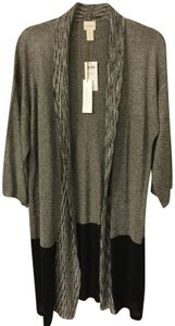Chico's 3/4 Length Sleeves Color Blocking Betty Cardigan Sweater