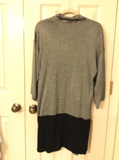 Chico's 3/4 Length Sleeves Color Blocking Betty Cardigan Sweater Image 3