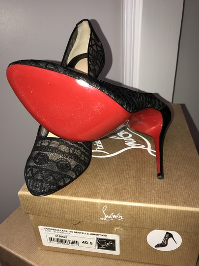 Christian Louboutin Lace Black Pumps Image 1