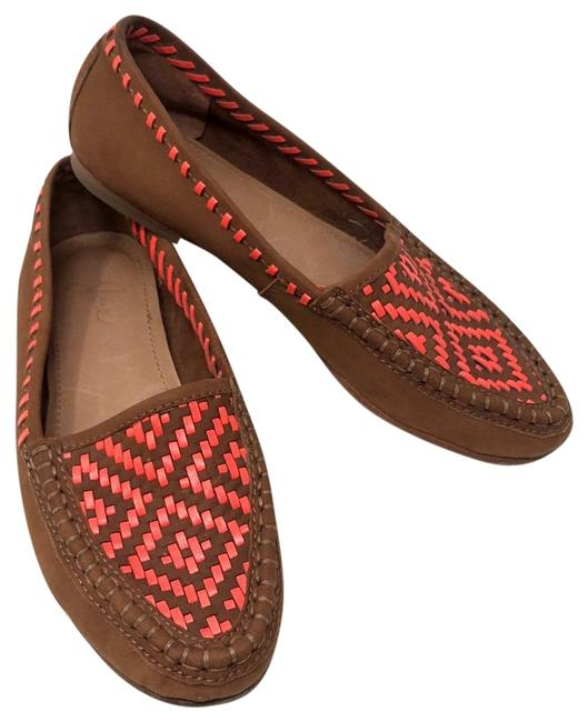 Joie Cognac Aliso Woven Loafers Flats Size US 6.5 Regular (M, B) Joie Cognac Aliso Woven Loafers Flats Size US 6.5 Regular (M, B) Image 1