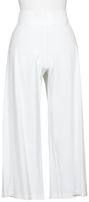 Item - White Stretch Crepe Wide Crop Yoked Pp Pants Size Petite 2 (XS)