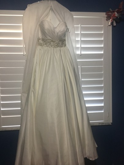 Preload https://img-static.tradesy.com/item/24199337/allure-bridals-white-a-line-strapless-gown-feminine-wedding-dress-size-8-m-0-0-540-540.jpg