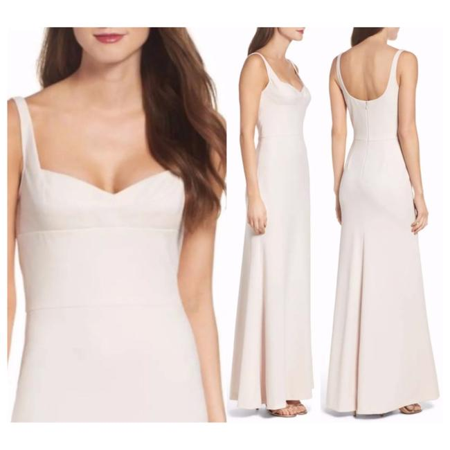 Item - Nude Blush Sweetheart Crepe Evening Gown Long Formal Dress Size 10 (M)
