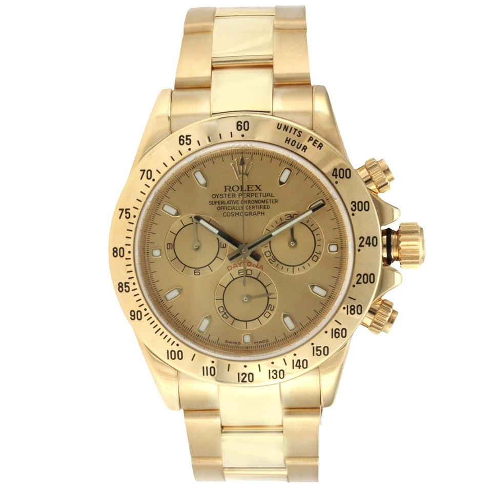Rolex Yellow Gold Cosmograph Daytona Watch Tradesy