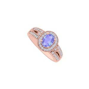 DesignByVeronica Coolest Tanzanite CZ Engagement Ring Rose Gold Vermeil