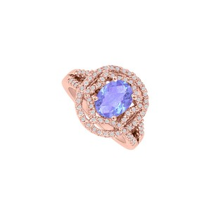 DesignByVeronica Oval Tanzanite and CZ Engagement Ring in Gold Vermeil