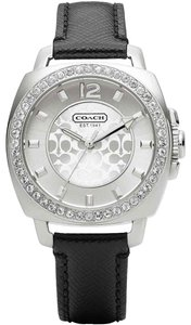 Coach Coach Mini Boyfriend Black Leather Strap Women's Watch 34mm