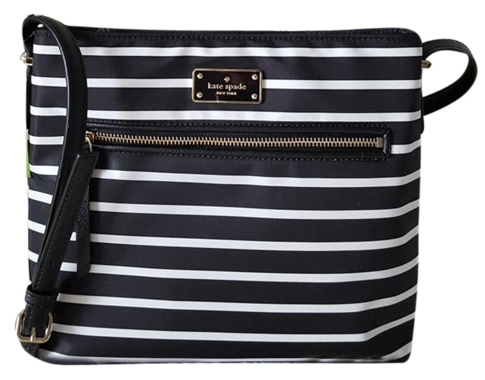 84079ea54e9e0 Kate Spade Dessi Wilson Road French Stripe Blackmulti Nylon Cross ...