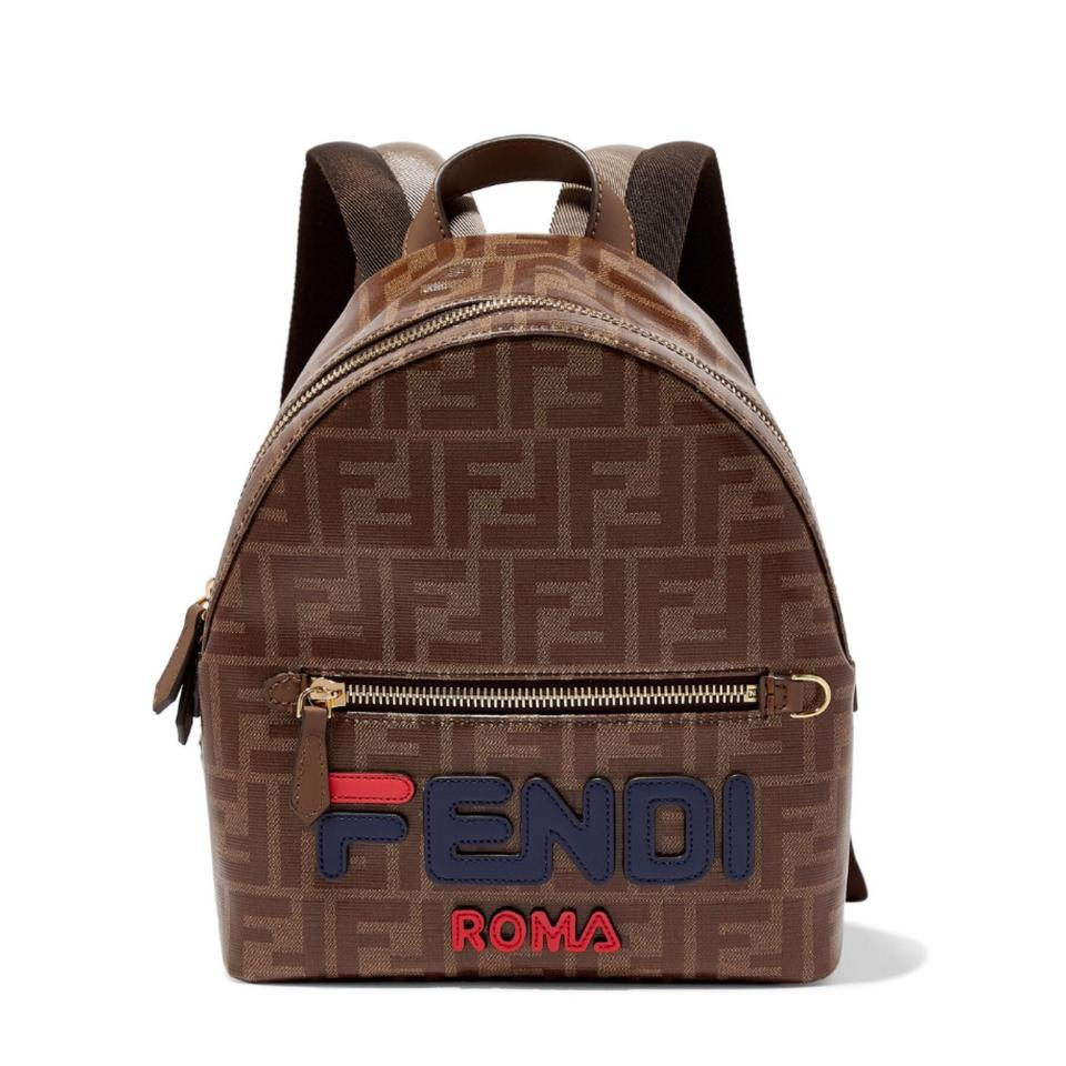 Fendi X Fila Logo Appliqued Coated Canvas Backpack - Tradesy 632f3113fe1d8