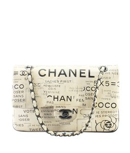 Chanel Hand Painter Graffiti Newspaper Limited Edition Shoulder Bag