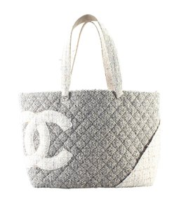 Chanel Tweed Tote in Grey