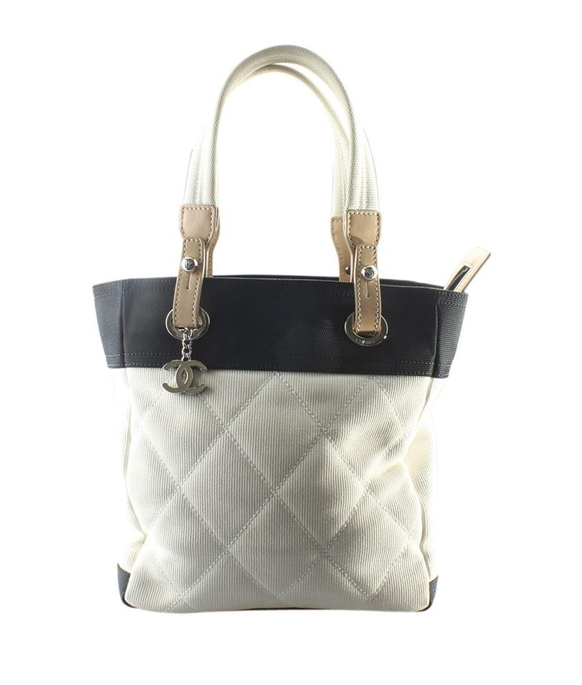 20b49b103446 Chanel Biarritz Paris-biarritz Small (159514) Blackxwhite Canvas ...