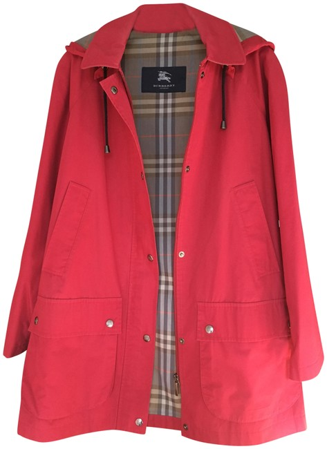 Item - Red Detachable Hooded Car Coat Size 10 (M)