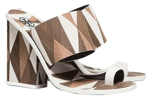 Tory Burch White/ Brown Platforms