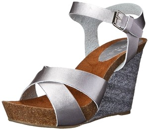 Rbls Silver,Black,White,Brown Wedges