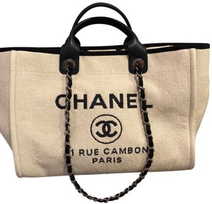 Chanel Tote in Ivory and Navy