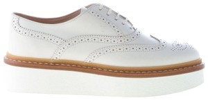 dd484e0550 Tod's Flats - item med img. Tod's. White Leather Laced Brogues Oxford with  Platform Flats
