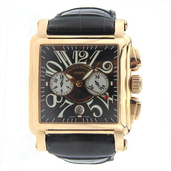 Item - Rose Gold Conquistador with Leather Strap Watch