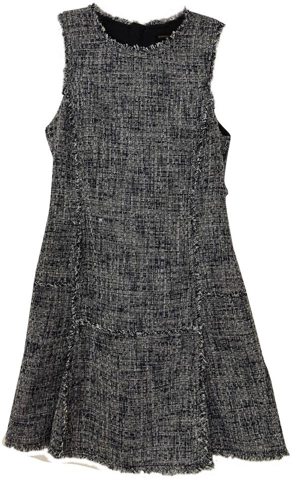 d163e3bc661 Banana Republic Navy Tweed Fit and Flare Short Work Office Dress ...