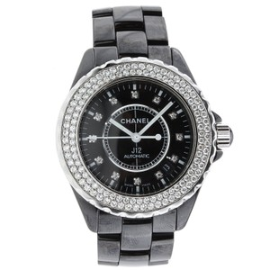 Chanel Chanel J12 Black Ceramic 42MM Watch with Diamonds - H2014