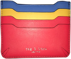 Rag & Bone W285103BR CROSBY LEATHER BLOCK CARD CASE