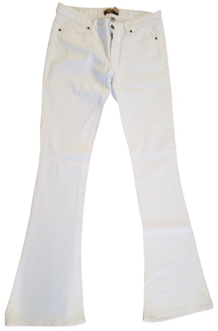 Item - White Distressed 'lou Lou' Premium Denim Flare Leg Jeans Size 29 (6, M)