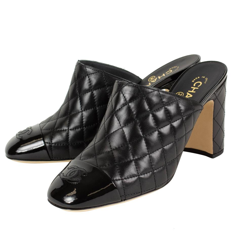 e80b7a424a Chanel Black Quilted Leather Cap Toe Mules/Slides. Size: EU 41 (Approx. US  11) ...