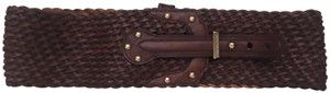 Michael Kors High waisted braided belt in chestnut