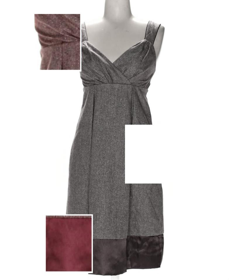 luxuriant in design full range of specifications hot products BCBGMAXAZRIA Burgundy Maroon Light Purple Colorblock Mid-length Cocktail  Dress Size 2 (XS)
