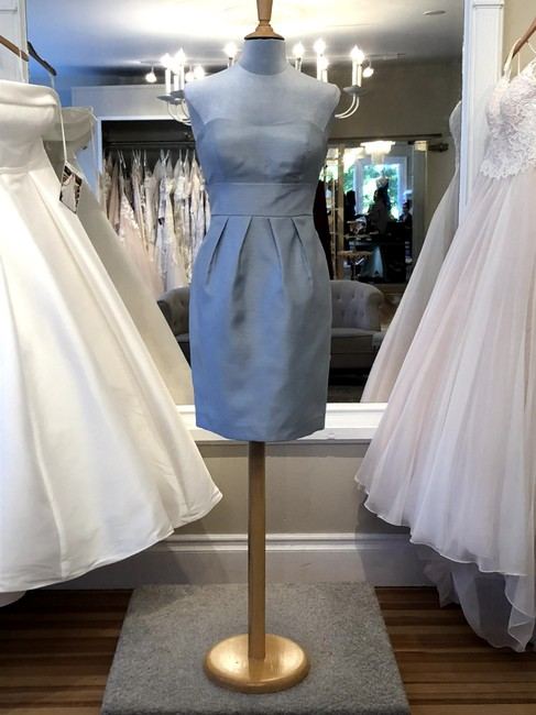 Item - Icelandic Blue Luxe Shantung Parker Formal Bridesmaid/Mob Dress Size 6 (S)