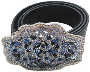 The Limited Rhinestone covered buckle belt in small