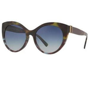 Burberry Women Cat Eye Acetate Frame with Blue Sunglasses