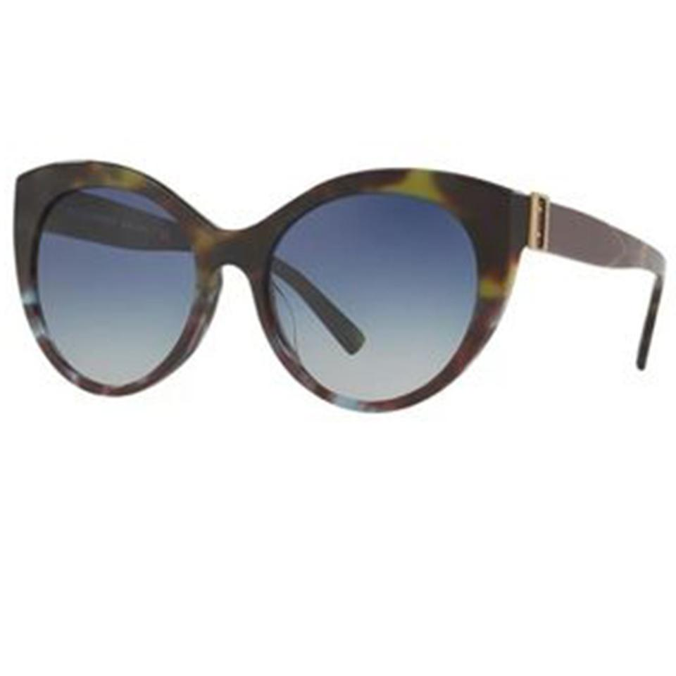1452fdb46b Burberry Havana Dark Green Women Cat Eye Acetate Frame with Blue Sunglasses