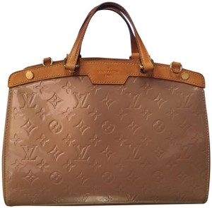 Louis Vuitton Monogram Leather Gold Hardware Tote in Beige
