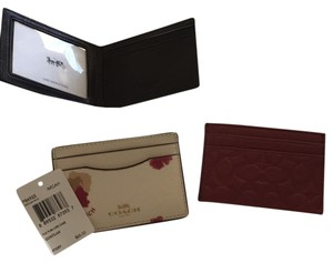 Coach card cases - leather