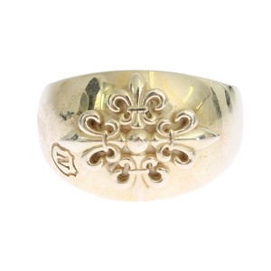 Gold D19000-2 Silver Crest 925 Sterling Ring (Eu 60 / Us 10) Men's Jewelry/Accessory