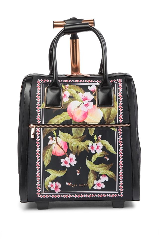 12f4515aa3c49 Ted Baker Polyester Carry On Suitcase Riorio Peach Blossom Black Travel Bag  ...