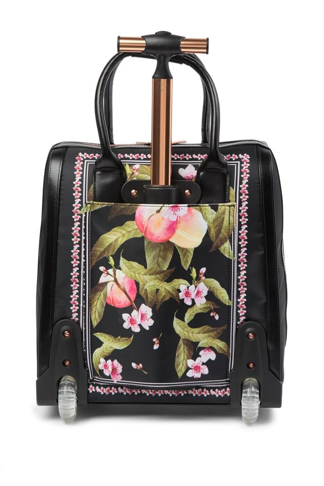 daf05a7cbe70f Ted Baker Polyester Carry On Suitcase Riorio Peach Blossom Black Travel Bag.  12345