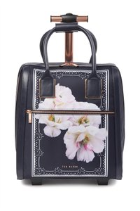 Ted Baker Polyester Carry On Suitcase Dark Navy Gardenia Floral Blue Travel Bag