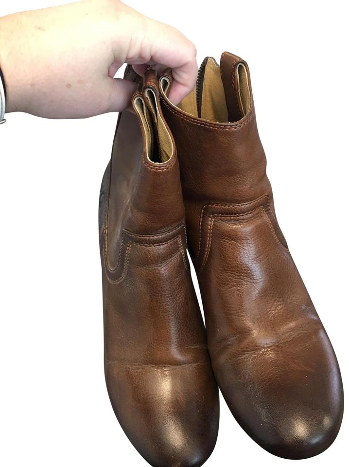52f95ec035e Frye Cognac Carson Wedge Boots Booties Size US 10 Regular (M