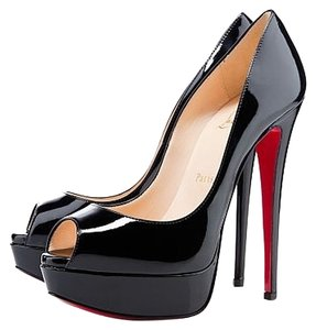 Christian Louboutin Patent Black Pumps