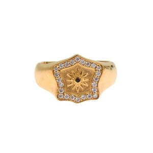 Gold D19137-5 Plated 925 Sterling Silver Ring (Eu 58 / Us 9) Men's Jewelry/Accessory
