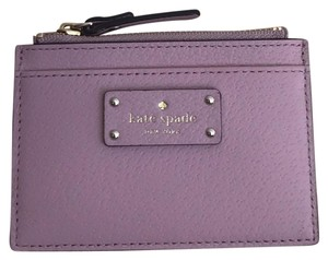 buy online b038e 9fa0f Kate Spade Pink Bonnet Adi Grove Street Leather Credit Card/ Coin Holder  Wlru2811 34% off retail