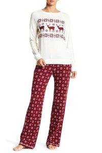 P.J. Salvage PJ SALVAGE Thermal Snowflake Pants & Long Sleeve Pajama, size L, NWT